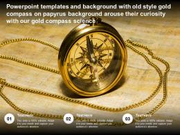 Templates With Old Style Gold Compass On Papyrus Arouse Their Curiosity With Our Gold Compass Science