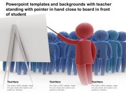 Templates With Teacher Standing With Pointer In Hand Close To Board In Front Of Student
