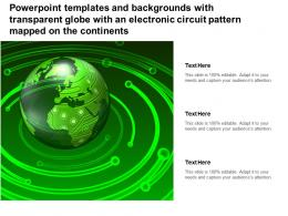 Templates With Transparent Globe With An Electronic Circuit Pattern Mapped On Continents