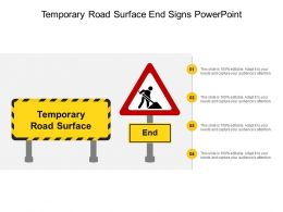 Temporary Road Surface End Signs Powerpoint