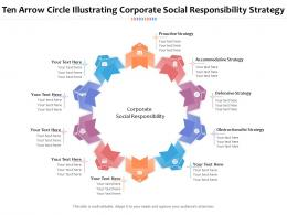 Ten Arrow Circle Illustrating Corporate Social Responsibility Strategy