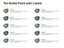 Ten Bullet Point With Labels