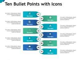Ten Bullet Points With Icons
