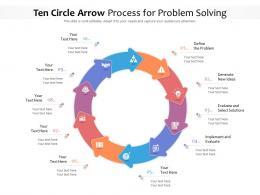 Ten Circle Arrow Process For Problem Solving