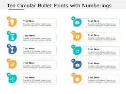 Ten Circular Bullet Points With Numberings