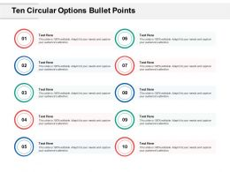 Ten Circular Options Bullet Points