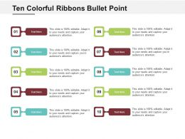 Ten Colorful Ribbons Bullet Point