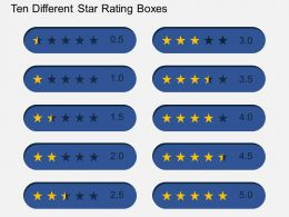 Ten Different Star Rating Boxes Flat Powerpoint Design
