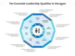 Ten Essential Leadership Qualities In Decagon