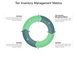Ten Inventory Management Metrics Ppt Powerpoint Presentation Show Examples Cpb