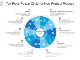 Ten Piece Puzzle Circle For New Product Process