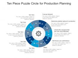 Ten Piece Puzzle Circle For Production Planning