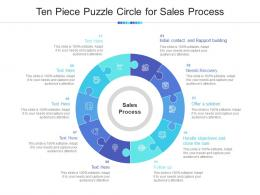 Ten Piece Puzzle Circle For Sales Process