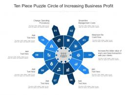 Ten Piece Puzzle Circle Of Increasing Business Profit