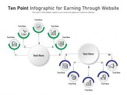 Ten Point For Earning Through Website Infographic Template