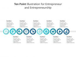 Ten Point Illustration For Entrepreneur And Entrepreneurship Infographic Template