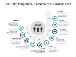 Ten Point Infographic Elements Of A Business Plan