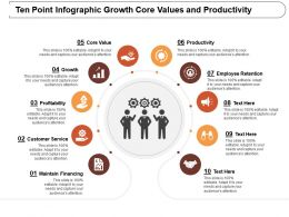 Ten Point Infographic Growth Core Values And Productivity