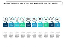 Ten Point Infographic Plan To Keep Your Brand On Its Long Term Mission