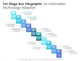 Ten Stage Box Infographic For Information Technology Adoption