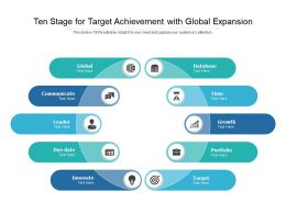 Ten Stage For Target Achievement With Global Expansion