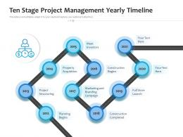 Ten Stage Project Management Yearly Timeline