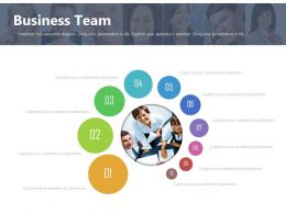 Ten Staged Business Team Communication Diagram Powerpoint Slides