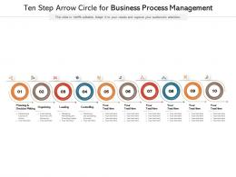 Ten Step Arrow Circle For Business Process Management