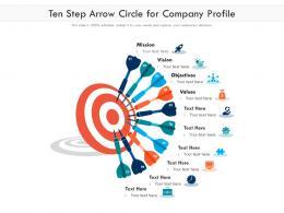 Ten Step Arrow Circle For Company Profile