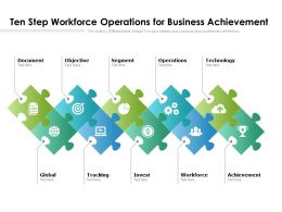 Ten Step Workforce Operations For Business Achievement