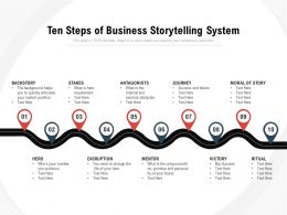 Ten Steps Of Business Storytelling System