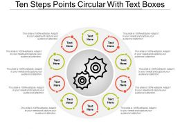 Ten Steps Points Circular With Text Boxes