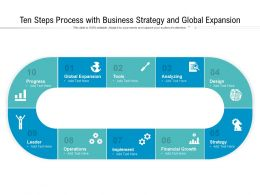 Ten Steps Process With Business Strategy And Global Expansion