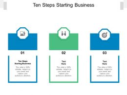 Ten Steps Starting Business Ppt Powerpoint Presentation Pictures Vector Cpb