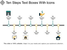 Ten Steps Text Boxes With Icons
