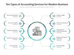 Ten Types Of Accounting Services For Modern Business
