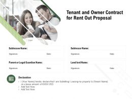 Tenant And Owner Contract For Rent Out Proposal Ppt Powerpoint Presentation Styles Slide