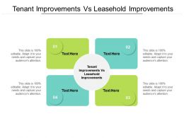 Tenant Improvements Vs Leasehold Improvements Ppt Powerpoint Microsoft Cpb