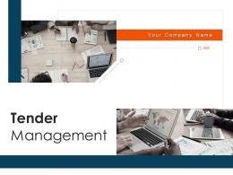 Tender Management Powerpoint Presentation Slides