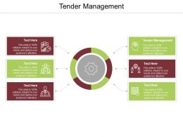 Tender Management Ppt Powerpoint Presentation Show Slide Cpb