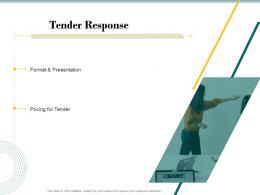 Tender Response Bid Evaluation Management Ppt Powerpoint Presentation Gallery Visual Aids