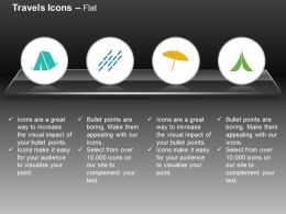 Tent Camping Umbrella Road Lanes Ppt Icons Graphics