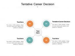 Tentative Career Decision Ppt Powerpoint Presentation Summary Slideshow Cpb