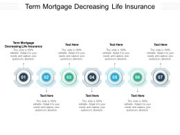 Term Mortgage Decreasing Life Insurance Ppt Powerpoint Presentation Icon Graphics Example Cpb
