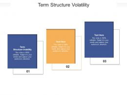 Term Structure Volatility Ppt Powerpoint Presentation Gallery Files Cpb