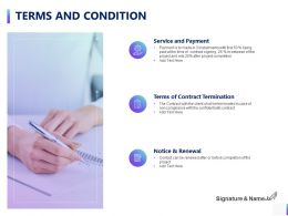 Terms And Condition Contract Termination Ppt Powerpoint Presentation Model Good
