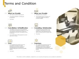 Terms And Condition Expenses Fees Ppt Powerpoint Presentation Pictures Background Image