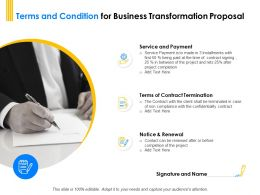 Terms And Condition For Business Transformation Proposal Ppt Powerpoint Designs