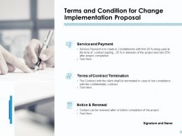 Terms And Condition For Change Implementation Proposal Ppt Outline