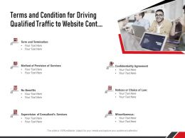 Terms And Condition For Driving Qualified Traffic To Website Cont Ppt Summary Guide